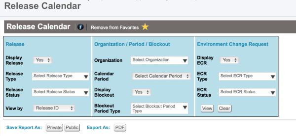 Release Calendar Export to PDF