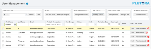 User Management Manage User Groups v43700