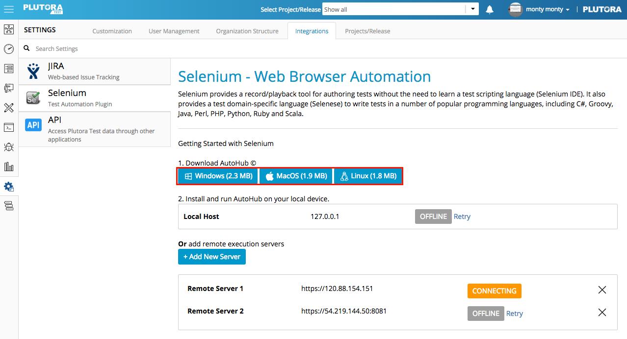 Selenium Integration   Plutora Knowledge Base