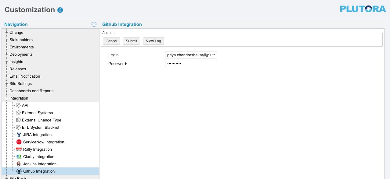 Github Integration Customization   Plutora Knowledge Base