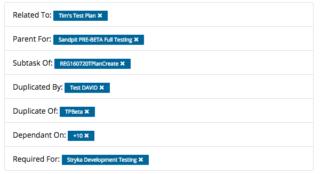 Test Plan Dependencies list