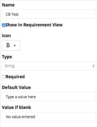 Adding a Requirements Custom Field