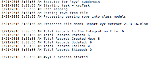 Example ETL log file