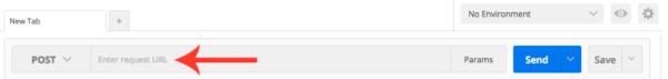 Enter request URL field