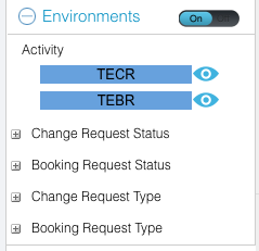 Release Calendar Environments filter TECR and TECR eyes