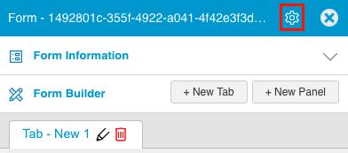 Open form information menu v45500 set form size