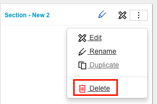 IM Panel menu delete panel or section